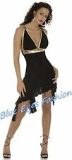 SUPER sexy miniabito party dress nero attrazione Clubwear Tg. 36