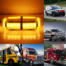 24 LED 24W Car Roof Top Emergency Hazard Warning Strobe Light Amber Magnetic