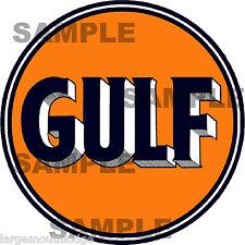 4 INCH GULF GASOLINE OIL DECAL STICKER