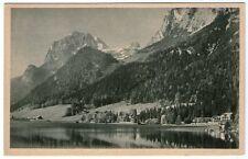 Alte SW-Ansichtskarte vom Hintersee mit Hotel Post und Gemsbock (1003)