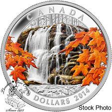 Canada 2014 $20 Autumn Falls Coloured Silver Coin - 2nd in Autumn Series