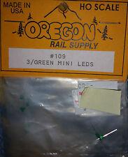 Ho Scale Oregon Rail Supply 3 / RED Mini LEDS Kit #110 NIP