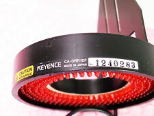 KEYENCE CA-DRR10F LIGHT RING ILLUMINATION UNIT RED LED USED