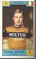 FIGURINA CARD  PANINI CAMPIONI DELLO SPORT 1969/70 # 180-BOIFAVA D. - CICLISMO