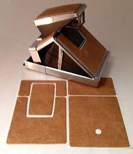 """Polaroid SX-70  """"Camel"""" Distressed Napa PolaSkinz Replacement Skinz SLR680/690"""