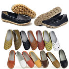 Womens Leather Loafers Moccasin Ballet Casual Anti-skid Flat Shoes Fashion Sale
