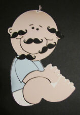 LITTLE MAN BABY SHOWER GAME PIN MUSTACHE ON BABY