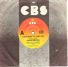 "FREDDIE MERCURY (QUEEN) - I WAS BORN TO LOVE YOU - 7"" 45 VINYL RECORD 1985"