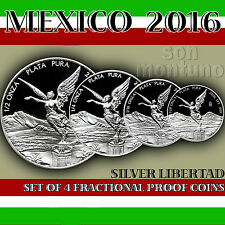 LIBERTAD SPECIAL SALE - 4 Coin Silver Proof Set 2016 Mexico - PRICE DROPS DAILY