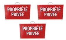 3 PLAQUE PANNEAU SIGNALISATION PROPRIETE PRIVEE 330 X 200 MM PVC RIGIDE