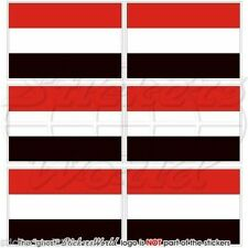 "YEMEN Flag Al-Yaman, Yemeni Mobile Cell Phone Mini Stickers,Decals 1.6""(40mm) x6"