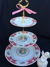 3 Tier Wedding Cake Stand, Pink Gold Cake Stand, China Tiered Serving Tray, Rose