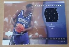 2003-04 Sweet Shot Sweet Swatches #CWSS Chris WEBBER