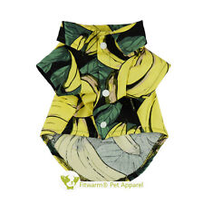 "Fitwarm 13""Chest Banana Pattern Dog Tee Shirt Small Pet Clothes Cotton Tank Boy"