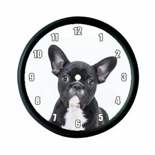 FRENCH BULLDOG PUPPY DOG PHOTO WALL CLOCK - ANIMAL PET LOVER GIFT