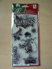 INKADINKADO-CLEAR STAMPS- ORNATE CHRISTMAS - 6 STAMPS - 98400