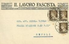 Cartolina Il Lavoro Fascista Inviata all'Avvocato Nicola Vavolo di Empoli 1930