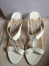 100% Authentic Jimmy choo shoe  sandal White size 40.5
