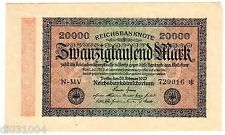 Allemagne GERMANY BILLET 20000 MARK 1923 P85 BON ETAT