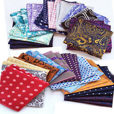 Wholesale 5 Pcs Mens Handkerchief Lot Pocket Square Silk Hanky Paisley Plaids...