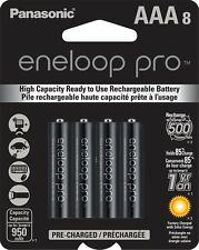 1Pk =8 Batteries Panasonic Eneloop Pro AAA NiMH Rechargeable Battery HR03 950mAh