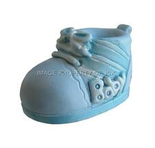BLUE & WHITE BABY BOYS BOOTIE CHRISTENING NEW BABY SHOWER CAKE TOPPER DECORATION