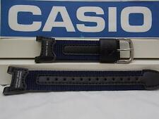 Casio Watch Band PRS-400 B-2 blue Leather/Nylon Strap.Fishing Gear Moon Graph
