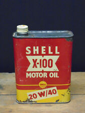 Vintage Shell X-100 oil can