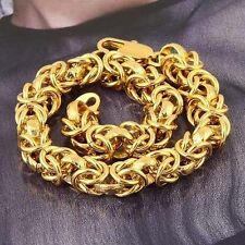 Fashion 9K yellow Gold Filled mens bracelets chain jewelry
