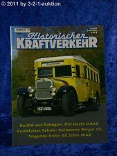 Historischer Kraftverkehr 1/09 letzter DAAG 50 J. HIAB