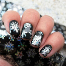 Christmas Nail Art Water Transfer Foils Sticker Snowflake Holographic 1 Sheet#V