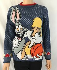 Vintage Warner Bros. Space Jam Sweater Lola And Bugs Bunny RARE EUC