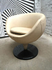 PIERRE GUARICHE LUNA F1215 CHAIR FAUTEUIL SESSEL CUIR SKAI LEATHER MEUROP 1960s