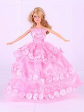 Wholesale Handmade PInk The original soft clothes dress for barbies doll 41