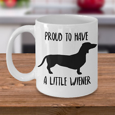 Dachshund Mug - Funny Novelty Coffee Cup For Doxie Wiener Dog Lovers - 11 oz Mug