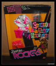 NRFB OUTFIT Vintage 1986 BARBIE & THE ROCKERS CONCERT FASHION #3393 Mattel CLOTH