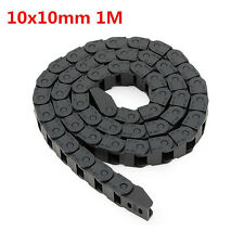 10 x 10mm Plastic Cable Drag Chain Wire Carrier Length 1000mm For CNC Router Mac