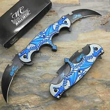 MC MASTER COLLECTION Dual Blue Dragon Blade Folding Pocket Knife MC-A004BL