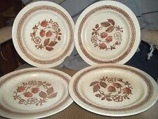 4 Dinner Plate Homespun by Churchill Staffordshire Wild Strawberry multi color
