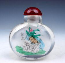 Peking Glass Inside *Zodiac Tiger* Reverse Hand Painted Snuff Bottle #01171605