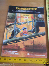 Somewhere Out There An American Tail Don Bluth photo sheet music 1980's