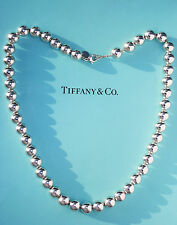 Tiffany & Co Plata Esterlina Collar de Abalorios de 18.25 pulgadas 10mm