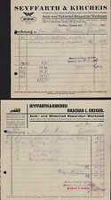 RASCHAU i. E., 2 Belege 1932/38, WANDERER Auto-Reparatur Seyffarth & Kircheis