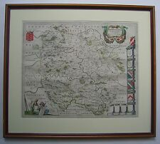 Herefordshire: antique map by Johan Blaeu, 1645-62