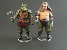 "Star Wars - 10 X TRANSPARENT STANDS 1.5"" Base pour VINTAGE Figurines"