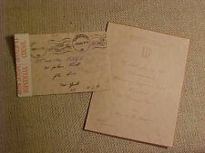 WWII 1940 CENSORED ENVELOPE & XMAS CARD FROM RAF CPL IN KIMBERLEY SOUTH AFRICA