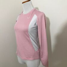 Nike Long Sleeve Shirt Size XS Fit Dry Pink T24