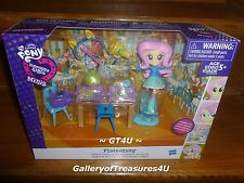 My Little Pony EQUESTRIA Girls Minis  FLUTTERSHY School Cafeteria Play Set Doll
