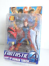 FANTASTIC FOUR - LIGHT-UP HUMAN TORCH with LAUNCHER - RESEALED