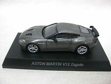 1:64 Kyosho ASTON MARTIN V12 Zagato Gray Diecast Model Car